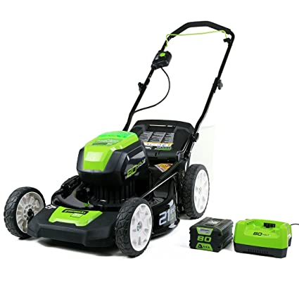 lithium battery powered lawn mower reviews