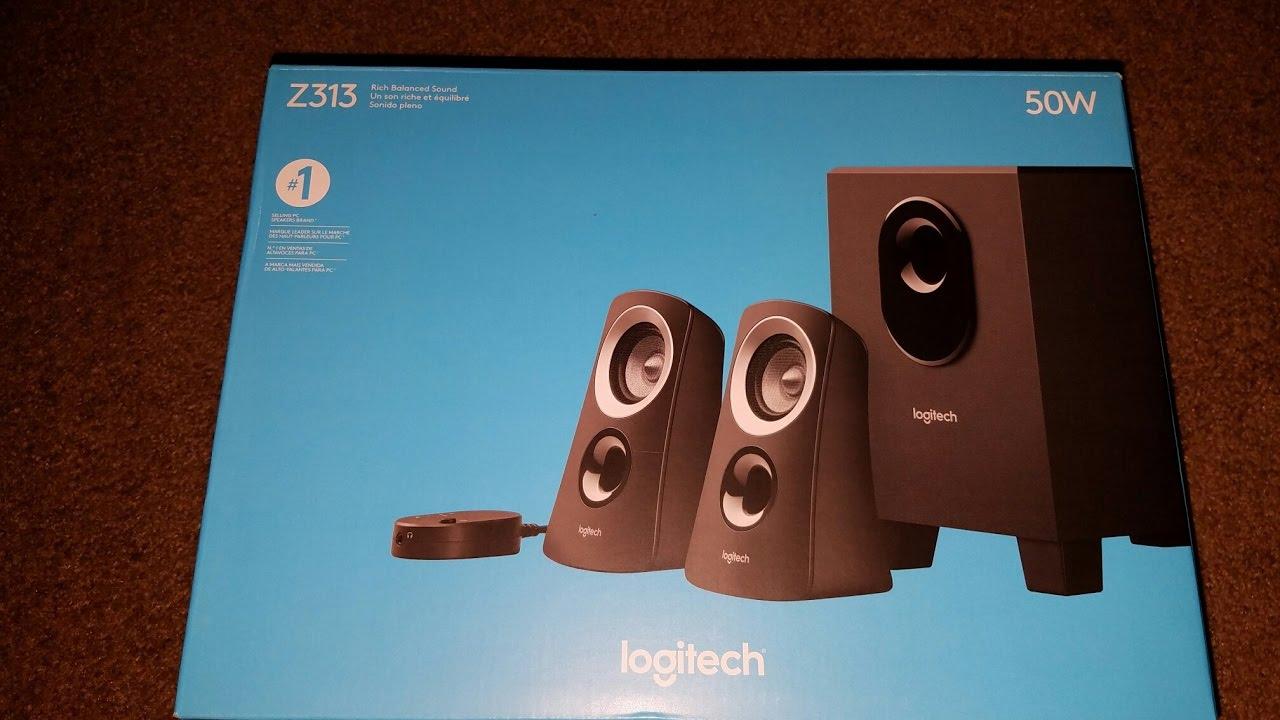 logitech z313 50w pc speakers review