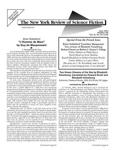 new york review of science fiction