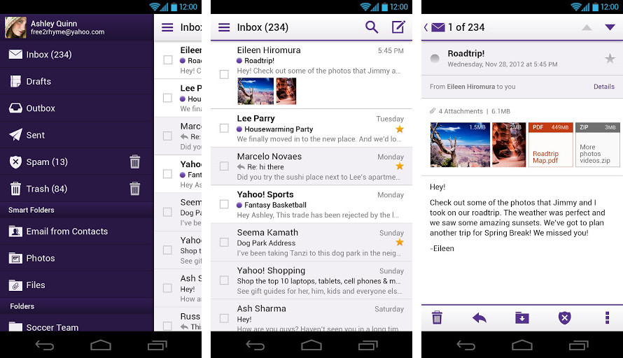yahoo mail app for android review