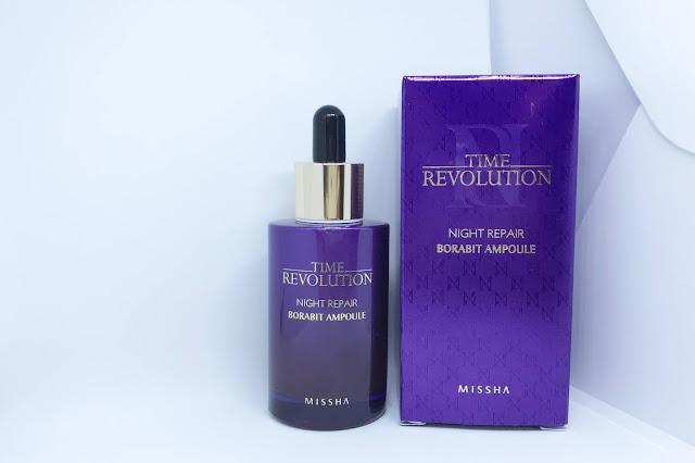 missha time revolution night repair borabit ampoule review