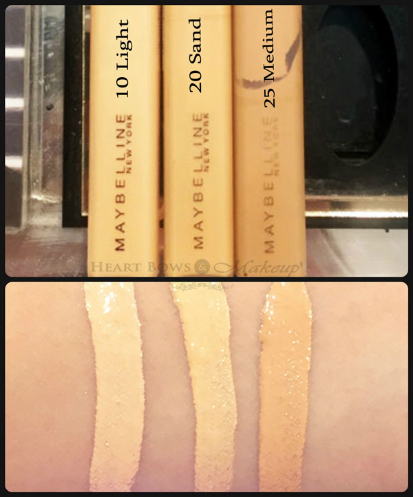 maybelline fit me concealer shades review