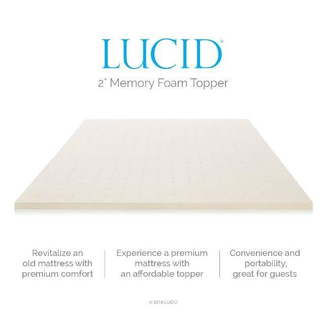 memory foam mattress topper reviews 2017