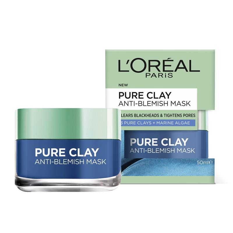 l oreal pure clay blemish rescue mask review